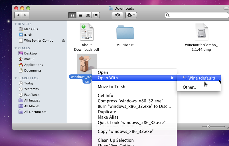 Installation Notes for Mac OS X